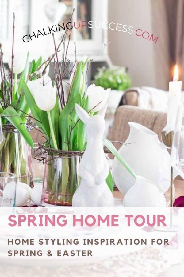 Pin to Pinterest - Spring home tour