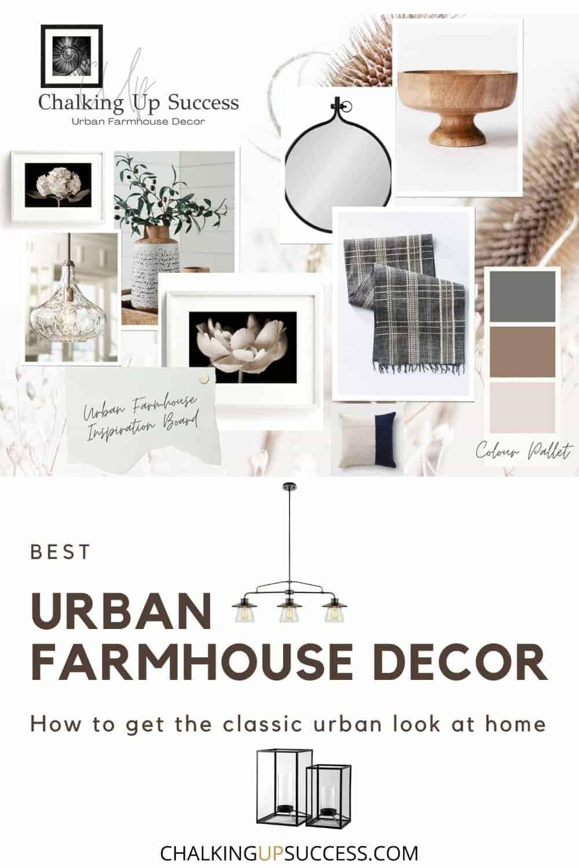 Pin to Pinterest - urban farmhouse decor moodboard