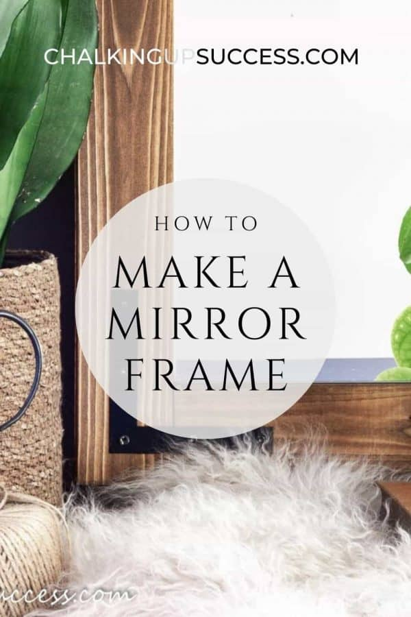 Pin this image to Pinterest - How to make a DIY wood framed mirror