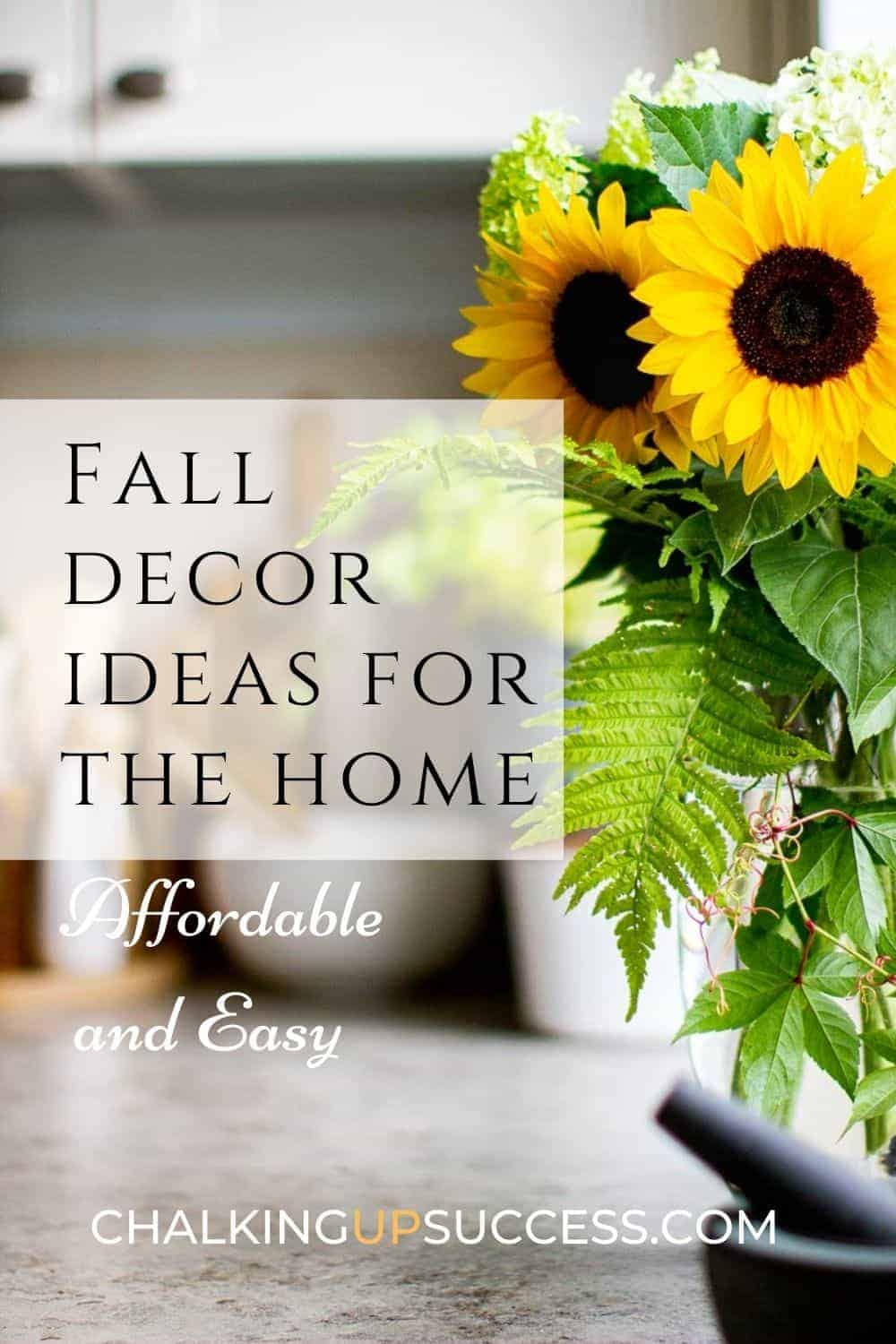 You can pin this image to Pinterest - sunflowers in a vase on the kitchen counter.