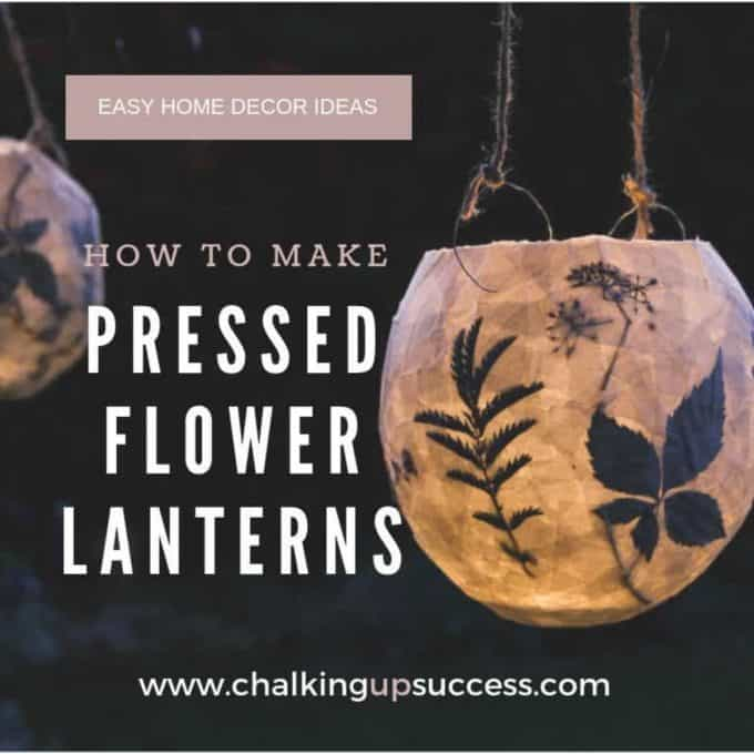 Paper Mache lanterns made with pressed flowers.