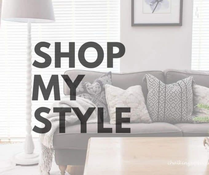 Image says 'Shop my style'. This button takes you to a dedicated page with my shopping links.