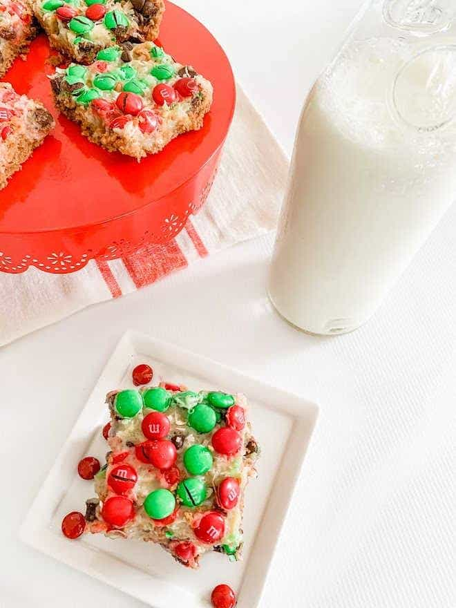 A plate of Christmas cookies and a glass of milk